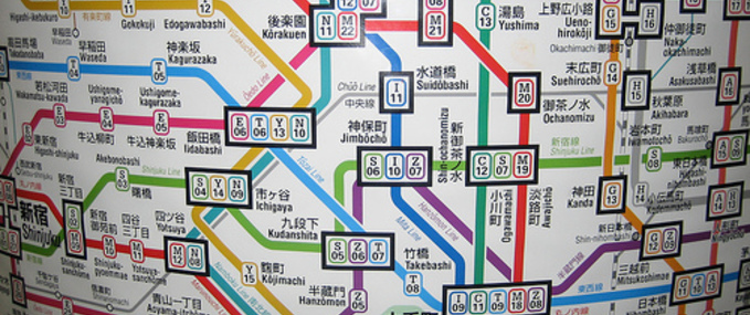 Navigeren op de Tokyo Metro