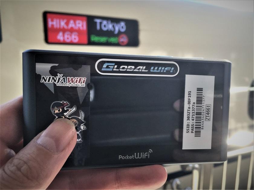 Free powerbank with WiFi - Japan Rail Pass